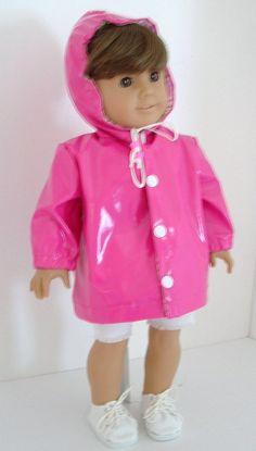 Hot Pink Rain Jacket by MyGirlClothingCo on Etsy