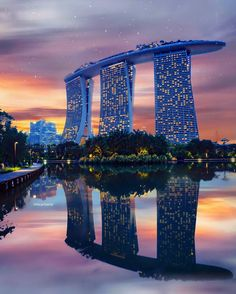 Marina Bay Sands, Singapore. This luxury hotel has the world's largest rooftop infinity pool, just imagine swimming there during sunset! The view over Singapore is probably the most spectacular you can find. See Instagram photos and videos from We ♥ Hotels (@we.love.hotels)