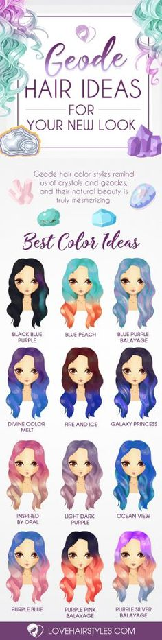 Geode hair ideas for your new look