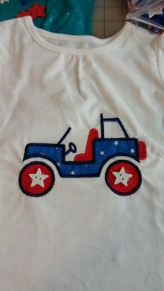 4th of July jeep shirt for Andi whose Daddy (and Mommy) love driving their jeep