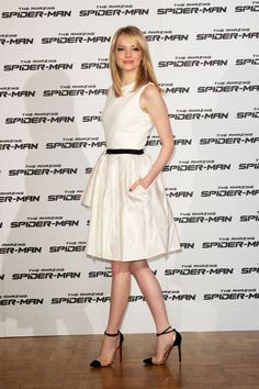 Emma Stone in a Jason Wu frock...this looks almost exactly like what I wore to senior prom in 2003.