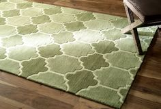 Lattice Geometric GR11 Green Rug | Contemporary Rugs