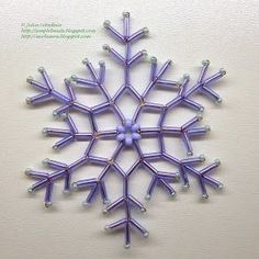 Beading for beginners: snowflake of bugle beads