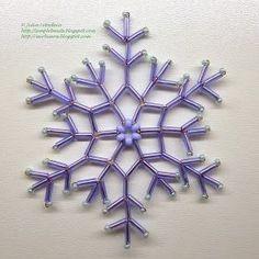 Бисероплетение для начинающих: снежинка из стекляруса