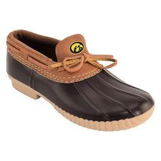 Women's Iowa Hawkeyes Low Duck Step-In Shoes, Size: 11, Brown