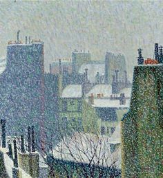 amare-habeo:  Auguste Herbin(French, 1882 - 1960) The Roofs of Paris in the Snow, N/D via thusreluctant
