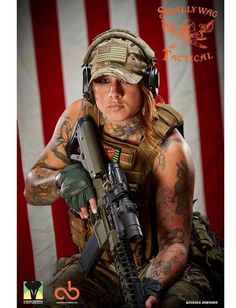 Meet Kinessa Johnson. She hunts poachers here in Africa where we are currently at risk of losing all our Rhino's due to these pricks.