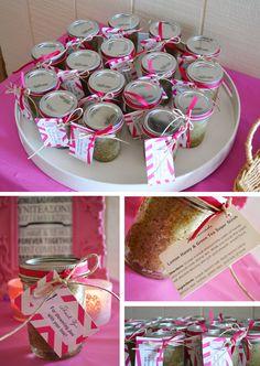 belle maison: Beach Bridal Shower :: Navy & Pink Chic