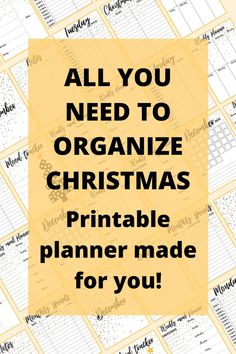 If you're looking for easy ways to organize life, check out these printables. You can make a perfect plan for December. This printable planner includes a monthly planner, weekly planners, recipe list, wish list, gift list, and many other pages. This is the only thing needed to organize Christmas. #planner #printableplanner #decemberplanner # #freeprintables #christmastheme #christmas #bulletjournal
