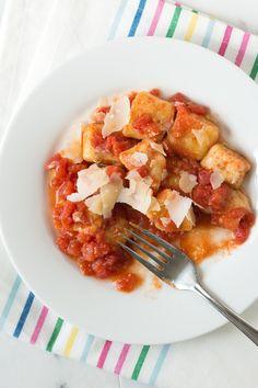 Simple Ricotta Gnocchi Recipe from www.inspiredtaste.net #gnocchi #pasta #recipe. #inspiredtaste