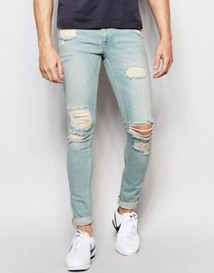 ASOS Extreme Super Skinny Jeans With Rips