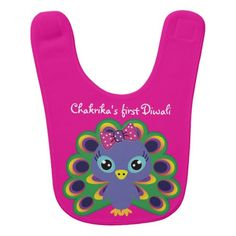 Baby's 1st Diwali with custom name (girl) pink Baby Bib Tennis Quotes, Tennis Shirts, Happy Diwali, Baby Girl Gifts, Baby Bibs, Pink Girl, Names, Lettering, Boys