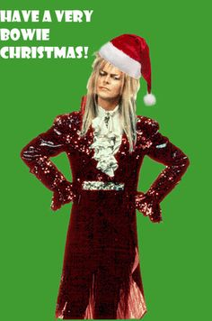 david bowie gif christmasbowiegif2 music page david bowie white christmas merry christmas - David Bowie Christmas