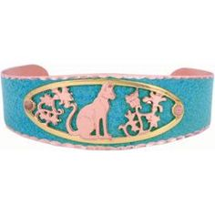 Cat Blue Patina Bracelet