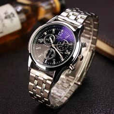 YAZOLE Steel Watch Men Top Brand Luxury Famous 2018 Wristwatch Male Clock -  US  16.00 010add562ec51