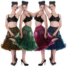 Hell Bunny New Long Net Tulle Vintage Swing Petticoat Under Skirt in Clothes, Shoes & Accessories, Women's Clothing, Skirts 50 Style Dresses, Fashion Dresses, Petticoat Junction, Rockabilly Looks, Pin Up, Hoop Skirt, 50 Fashion, Dress Skirt, Tulle