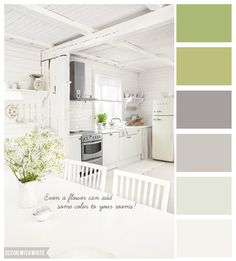 Beach house Kitchen colors. Fresh! #paintcolors #beachhouse