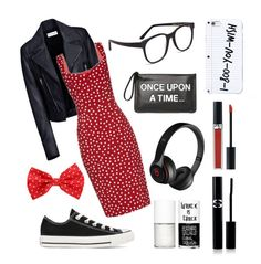 """""""Style teacher"""" by slavenka555 ❤ liked on Polyvore featuring Balenciaga, Dolce&Gabbana, Converse, RED Valentino, Larke, Beats by Dr. Dre, Uslu Airlines, Sisley Paris, Christian Dior and women's clothing"""