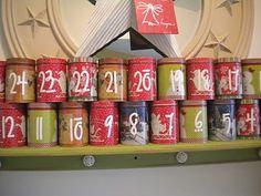 Advent Calendar Cans