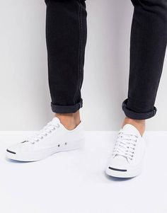 b114c29e7454 Converse All Star Jack Purcell Sneakers In White 1Q698 Converse Jack Purcell