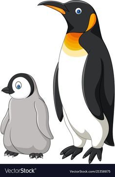 Cartoon mother and baby penguin isolated on white vector image on VectorStock Art Drawings For Kids, Animal Drawings, Penguin Love, Penguin Craft, Arctic Animals, Cute Animals, Dream Catcher Vector, Cute Bunny Cartoon, Polo Norte