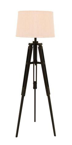Benzara Old World Floor Lamp With Tripod From Nostalgic Silent Film Era