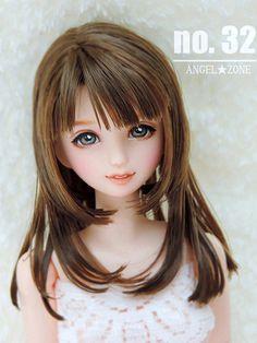 ANGEL ★ ZONE 1/6 custom obitsu p-chan doll head no.32 little girl