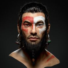 Hi, guys, this is what I did recently, an Oriental Druid in my mind. It is not finished yet, but I want to share it here. : P Shapes and forms were sculpted in zbrush; Color map and fine displacement map were painted in Mari ( color map was painted all Zbrush Character, Character Modeling, Character Art, Character Design, 3d Modeling, Character Concept, 3d Portrait, Portraits, Pencil Portrait