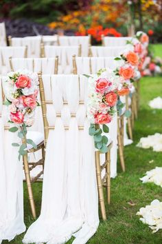 This ceremony chair decor is next level gorgeous.