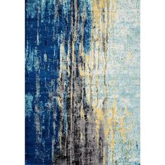 Katharina Blue 7 ft. 10 in. x 10 ft. 10 in. Area Rug