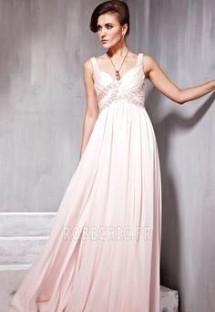 Robe de Soirée Mode Bébé rose Sans Manches Longueur ras du Sol