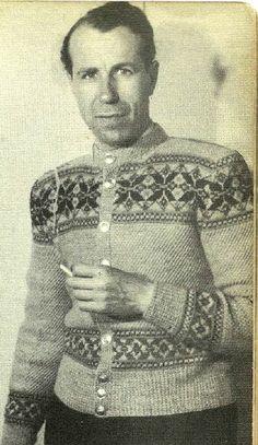 Herrekofte i halvvev. Fra Kofteboka fra 1953.