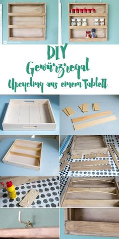 DIY Gewürzregal Kräuteregal upcyclen aus Tablet