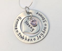 Personalised Nanny gift present by EmsStampedJewellery on Etsy