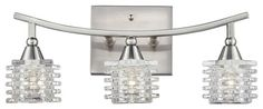 ELK Lighting Matrix 17131/3 Bathbar - Satin Nickel - 15W in.  Hayneedle.  $158
