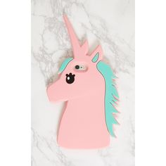 Pink Unicorn Iphone 6 Case (€9,41) ❤ liked on Polyvore featuring accessories, tech accessories and pink