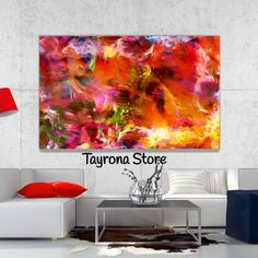 Cuadro Decorativo Tayrona Store Para Sala o Alcoba Pintura Fluida Color 04 Tapestry, Curtains, Shower, Prints, Cali, Home Decor, Ideas, Modern Paintings, Mdf Wood
