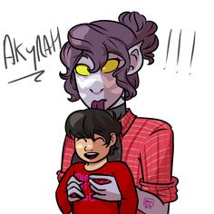 Galra Mom looking after her Half-Human Baby while Human-Husband looks on in horror from behind the cam-corder (I called her Akyrah bc Keith was called Akira in golion and it's like a white person way...