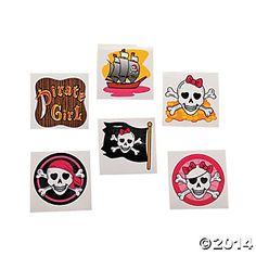 Girly Pirate Glitter Tattoos