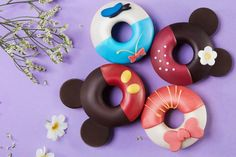 These Mickey and Friends donuts from Shanghai Disneyland are almost too cute to eat.