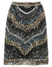 M & Co Chevron sequin skirt
