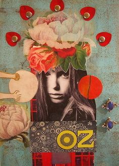 Mixed Media Collage Journal Cover ZNE EXPLORED by peregrine blue, via Flickr