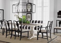 Black And White Dining Room Table Chairs - Interior Design Dining Room White Dining Room Sets, Black And White Dining Room, White Dining Table, Dining Tables, Trestle Table, Narrow Table, Dining Area, Dining Bench, Dining Room Design