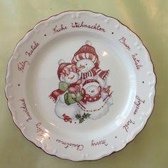 Plato Navidad pintado por Mara.