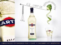 The Print Ad titled Martini: Bianco was done by McCann Paris advertising agency for Martini in France. Martini, Alcoholic Drinks, Beverages, Restaurant Menu Template, Wine Design, Seafood Restaurant, Creative Advertising, Print Ads, Vodka Bottle