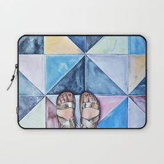 Art Beneath Our Feet - Mykonos Laptop Sleeve