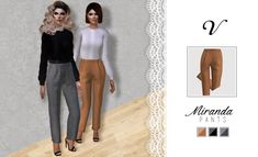 "Always Sims's Casual Trousers conversion with a new option of shoes. In 2 colors and 1 printed one. I hope you all enjoy and I give all credits to Always Sims. Check the original mesh here and enjoy this amazing creations too. ""Download here. """