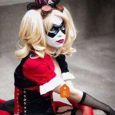 "@DeviousCosplay as #Steampunk #HarleyQuinn wearing my ""Supermask."" #etsy #ravenwoodmasks #etsyshop #dccosplay"