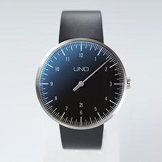 UNO+ CARBON Automatic one-hand watch | Botta Design