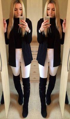 Ellie K. - Ways to wear a sleeveless blazer. Look #1